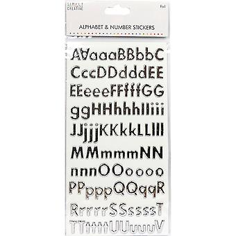 Simply Creative Alphabet & Number Stickers-Classic Foil Silver