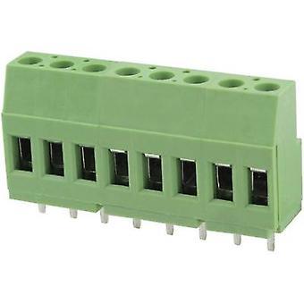 Degson DG129-5.0-02P-14-00AH Screw terminal 3.31 mm² Number of pins 2 Green 1 pc(s)