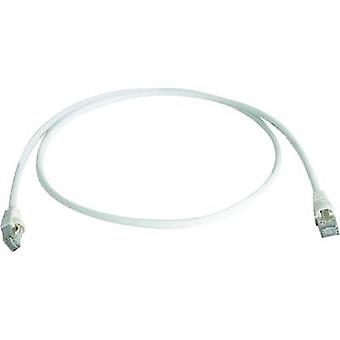 Telegärtner RJ45 Networks Cable CAT 6A S/FTP 1 m White Flame-retardant, Halogen-free