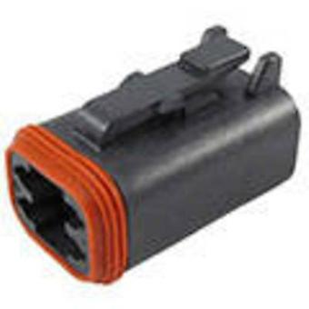 TE Connectivity DT06-4S-P012 Bullet connector Socket, straight Series (connectors): DT Total number of pins: 4 1 pc(s)