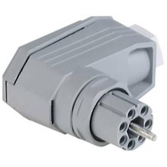 Mains connector N Series (mains connectors) N Socket, right angle Total number of pins: 11 + PE 5 A Grey Hirschmann N11R