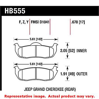 Hawk 'Performance Street' Brake Pads HB555F.678 Fits:INFINITI 2004 - 2010 QX56