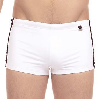 Hom Santa Cruz Swim Shorts, White, Small