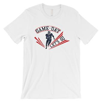 GAME DAY for New England T-Shirt Mens White Funny Football Shirt