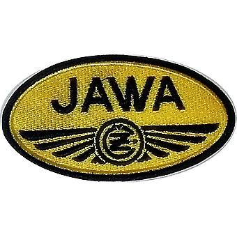Jawa Yellow Oval Sew-On Embroidered Patch
