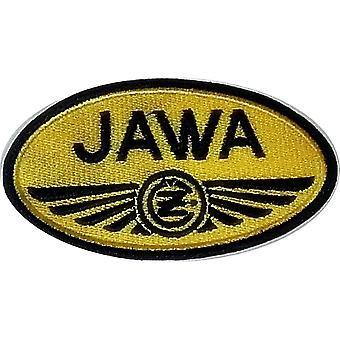 Jawa gelb Oval Nähen-auf gestickt Patch
