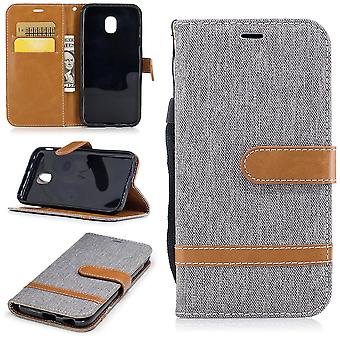 Case for Samsung Galaxy J5 2017 jeans cover cell protection sleeve case grey