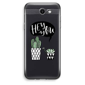 Samsung Galaxy J3 Prime (2017) transparentes Gehäuse (Soft) - Hey du Kaktus