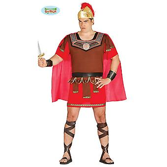 Roman soldier Centurion Carnival party theme costume for men's brown gold