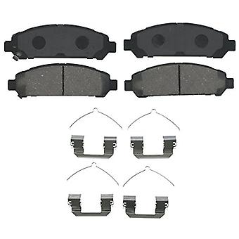 Wagner QuickStop ZD1401 Ceramic Disc Pad Set Includes Pad Installation Hardware, Front