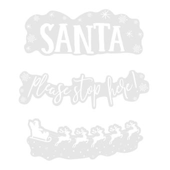 Santa Stop Here With Sleigh Window Sticker Resuseable Christmas Decoration