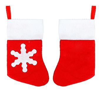 TRIXES Set of 10 Quirky Xmas Sock Christmas Dinner Cutlery Holders