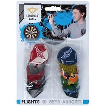 Darts 12 sets flights ass