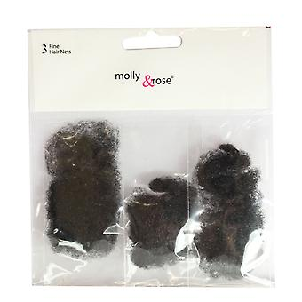 Molly & Rose Fine Hair Net 3pk Blonde