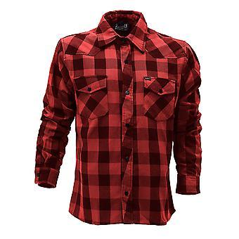 Lucky 13 men's long-sleeve shirt shocker flannel black / red