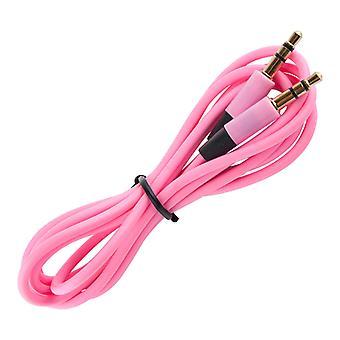 Aux Cable 3.5 mm, 120 cm-Pink