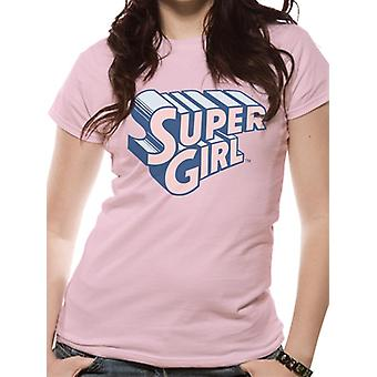 Supergirl - Text & Logo T-Shirt (Fitted)