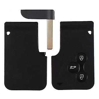 Auto Styling 3 Button Vervanging Key Card Cover Voor Renault Clio Megane Scenic Grand Shell Case Ongecensureerd BlankWithout Chip