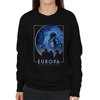 NASA Europa Interplanetary Travel Poster Women's Sweatshirt