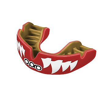 Opro Power Fit Aggression Jaws Mouthguard Red/Gold