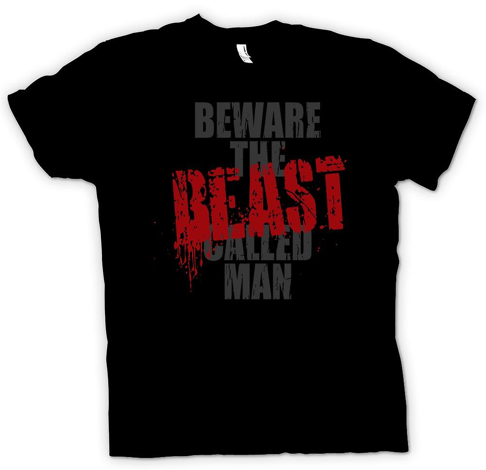Kids T-shirt - Beware The Beast Called Man - Funny