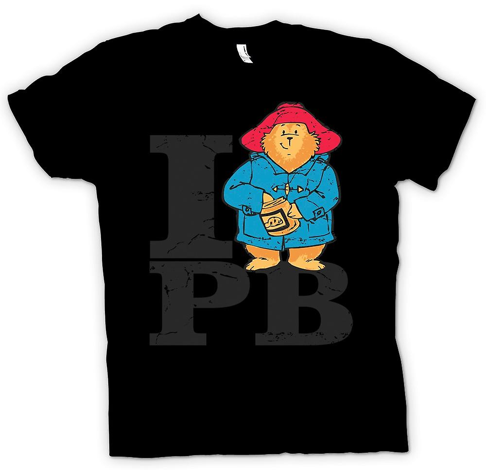 Mens T-shirt - I Love PB - Paddington Bear Inspired