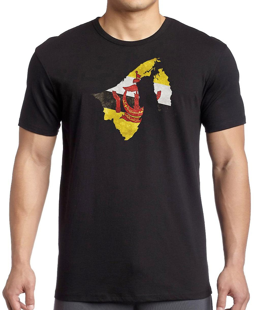 Brunei Bruneian Flag Map Kids T Shirt
