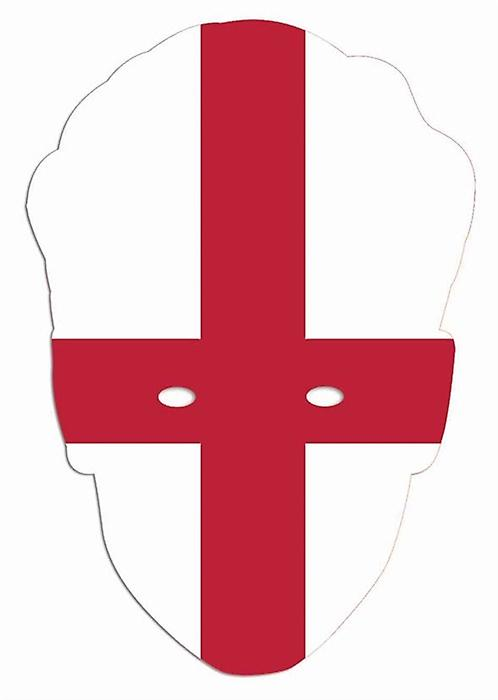 England Flag World Cup Football Party Card Face Mask