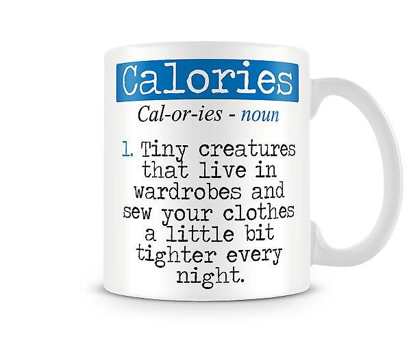Decorative Writing Calories Printed Mug