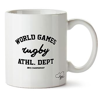 Hippowarehouse Games Rugby Athl. Dept Aw15 Wereldkampioenschap afgedrukt mok Cup keramiek 10oz