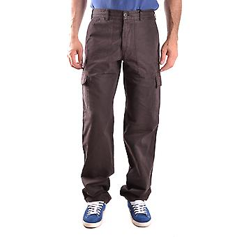 Alberto Aspesi Brown Cotton Pants