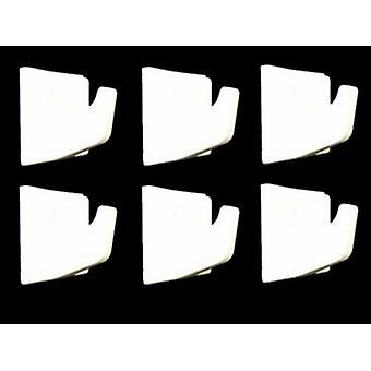 Ganci Self adesivo quadrato medio 4/Pk