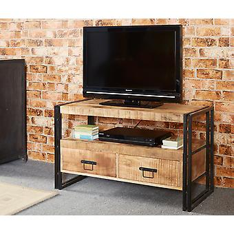 Maison Industrial Metal & Wood 2 Drawer Tv Stand