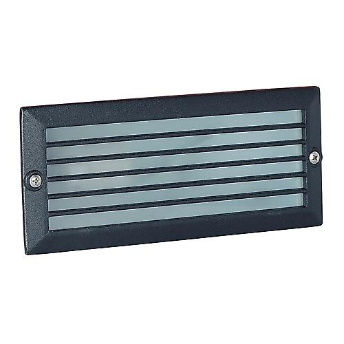 Endon EL-YG-7004 Black Energy Saving Recessed Brick Light With Grill Lens