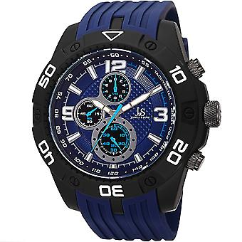 Joshua & Sons Men's JS92BU Chronograph Watch with Silicone Band