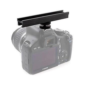 Kiwifotos 12cm Cold Shoe Extension Bar for Canon, Nikon, Olympus, Pentax, Samsung (D)SLR cameras (not Sony/Minolta)