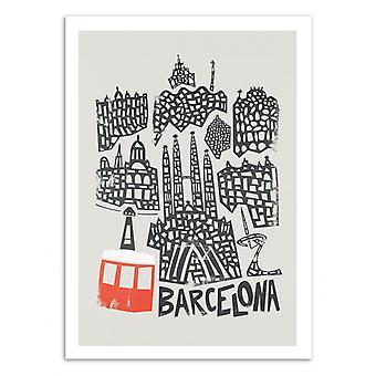 Kunst-poster-Barcelona-Fox en Velvet 50 x 70 cm