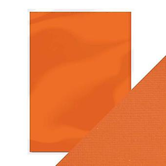 Craft Perfect A4 Weave Textured Card Clemantine Orange Tonic Studios