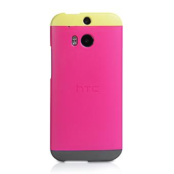 Official HTC One M8 Double Dip Hard Shell Case Pink Yellow