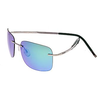 Breed Orbit Titanium Polarized Sunglasses - Gunmetal/Blue-Green