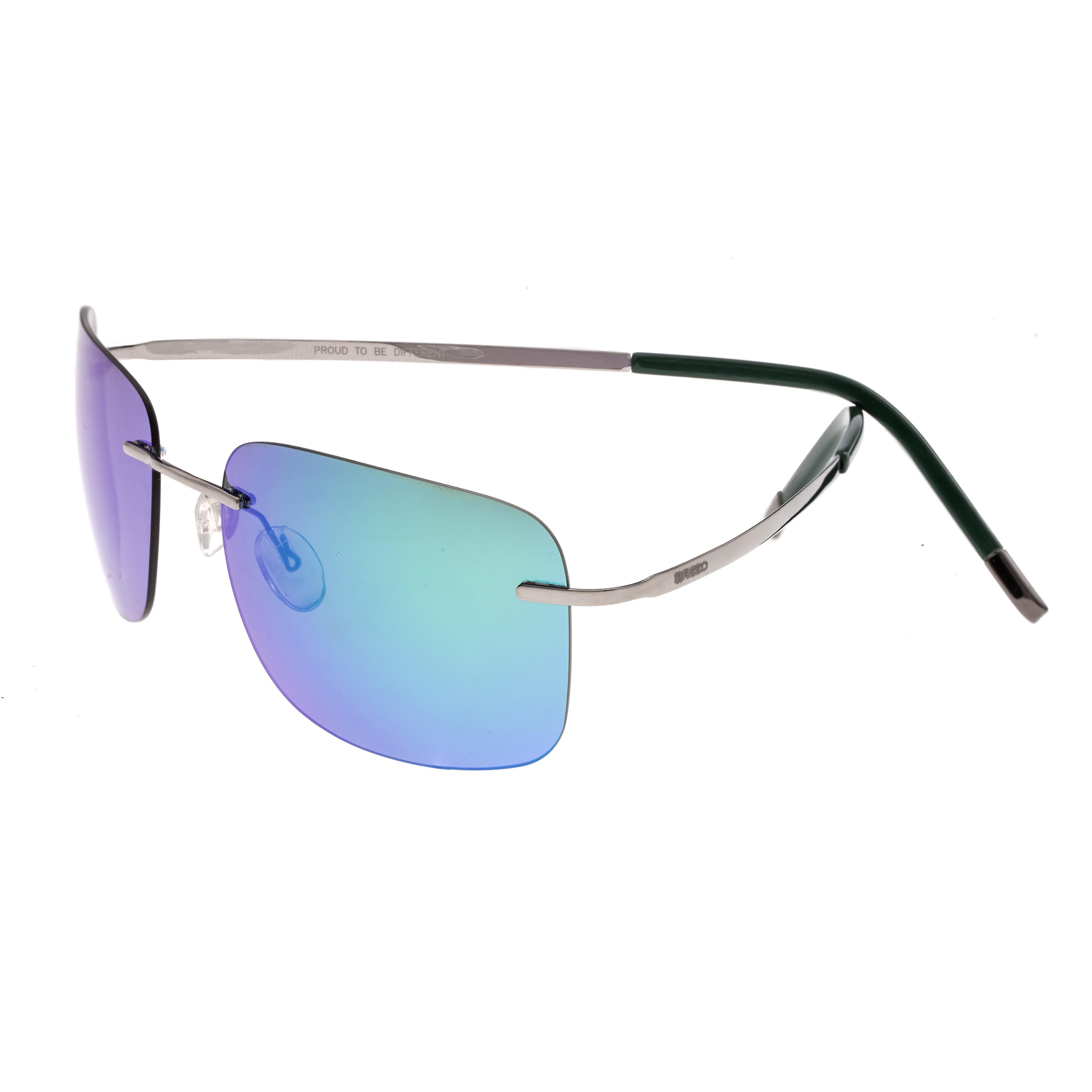 Breed Orbit Titanium Polarized Sunglasses - Gunmetal bleu-vert