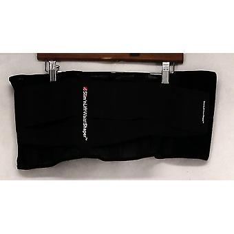 Slim 'N Lift Stretch Knit Waist Shaper w/ Adjustable Closure Black