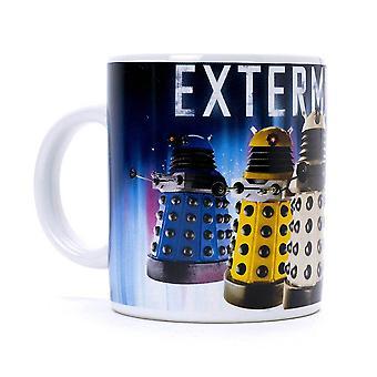 Doctor Who Daleks Exterminate Coffee Mug