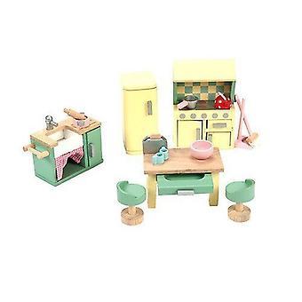 Le leketøy van Daisylane tre Doll ' s House møbler-kjøkken sett