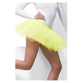 Womens Neon amarelo Tutu combinação vestido extravagante acessório