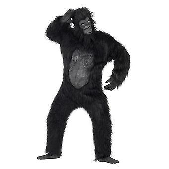Mens Deluxe Gorilla Fancy Dress Costume