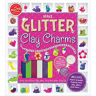Glitter Clay Charms Book Kit- 585846
