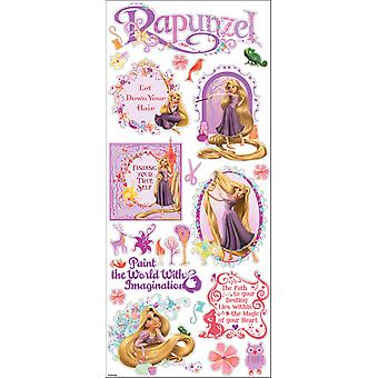 Disney Large Flat Stickers Rapunzel E5360033