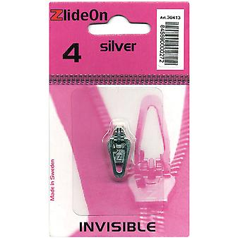 Zlideon Zipper Pull Replacements Invisible 4 Silver 3041 3