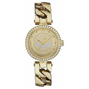 Harley Davidson Womens Gold Tone Strap Gold Dial 78L121 Watch